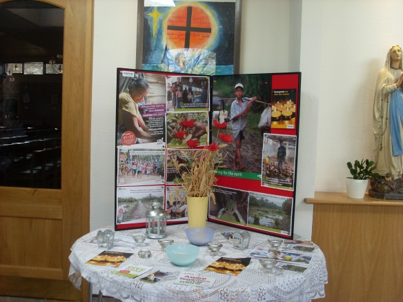 Maria's beautiful Lenten display at the Immaculate Conception in Stubbington.