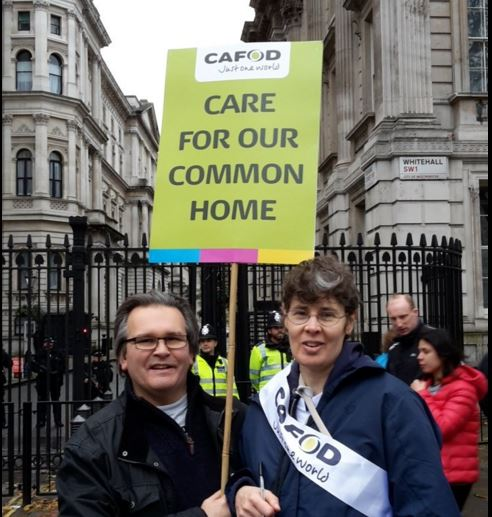 Jo and Julian outside Number 10