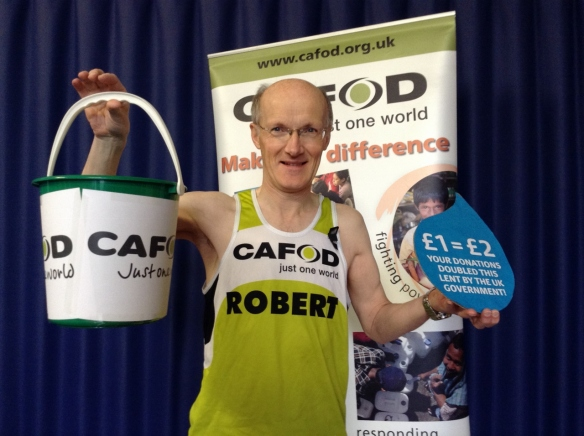 Robert Corry running for CAFOD in the London Marathon 2016
