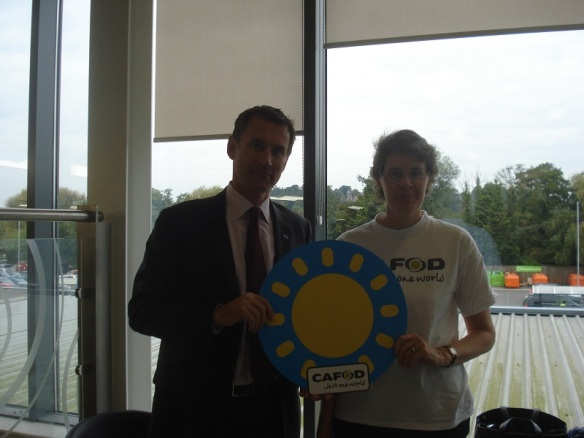Jo Lewry meeting with Jeremy Hunt