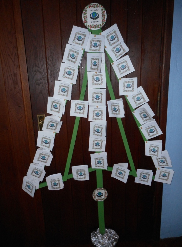 Our Lady and St Edmund, Abingdon livesimply pledge tree Dec 2016