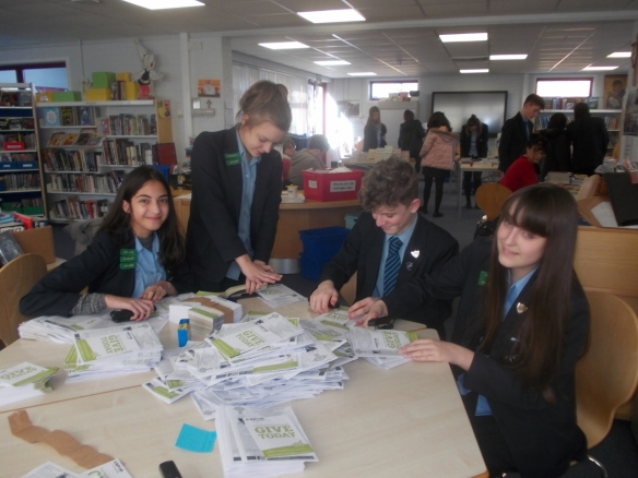 Students from Bishop Challoner Secondary school