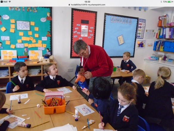 Roger at St Bede's Primary