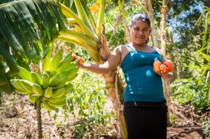 Edelmira and her fruit trees
