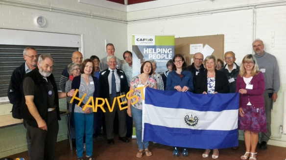 CAFOD volunteers at the Reading Harvest Briefing.