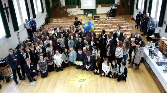 CAFOD Young Leaders from Portsmouth and Arundel and Brighton dioceses 2017