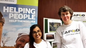 Jo & Chloe on the CAFOD stall