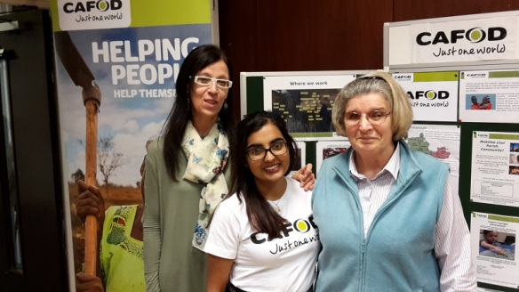 Members of the CAFOD group at Portsmouth Cathedral