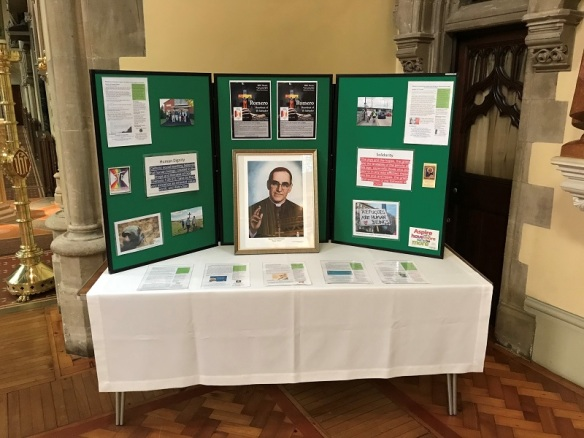 Romero display Portsmouth Cathedral