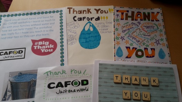 Thank you cards from St Mary's