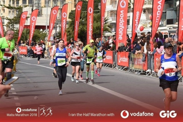 Running in the Malta Marathon