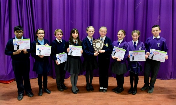 The winners of the Speaking competition.