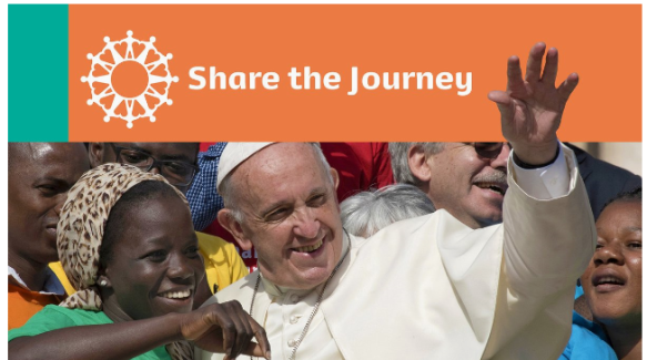 Pope Francis launching the Share the Journey Campaign