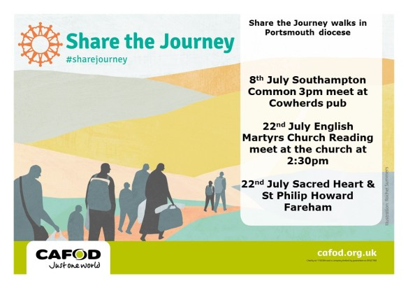 Share the Journey walks in July