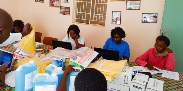 Distribution of PPE in Zimbabwe